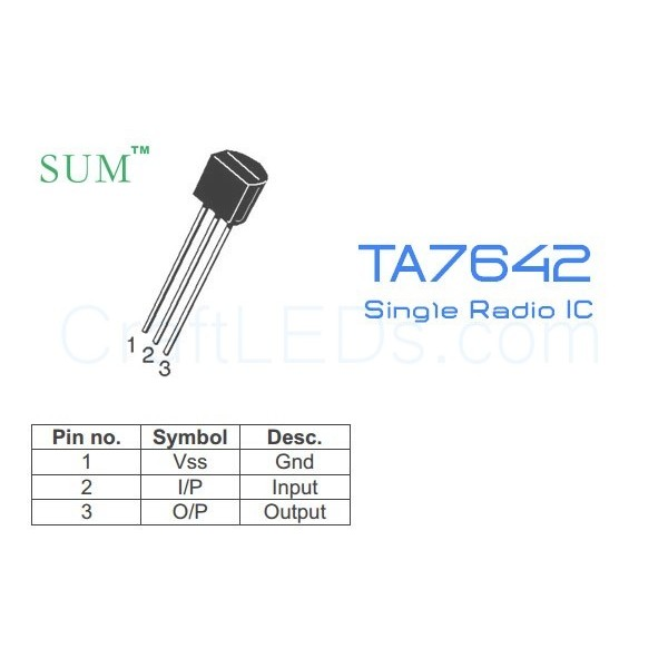 TA7642 Single Radio Chip